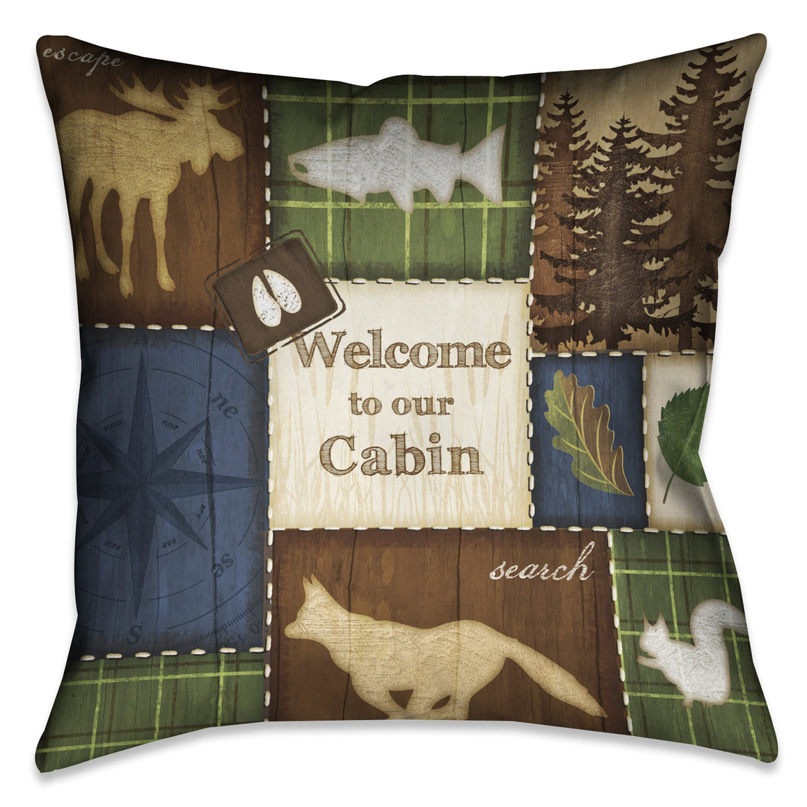 Welcome to Our Cabin Indoor Decorative Pillow