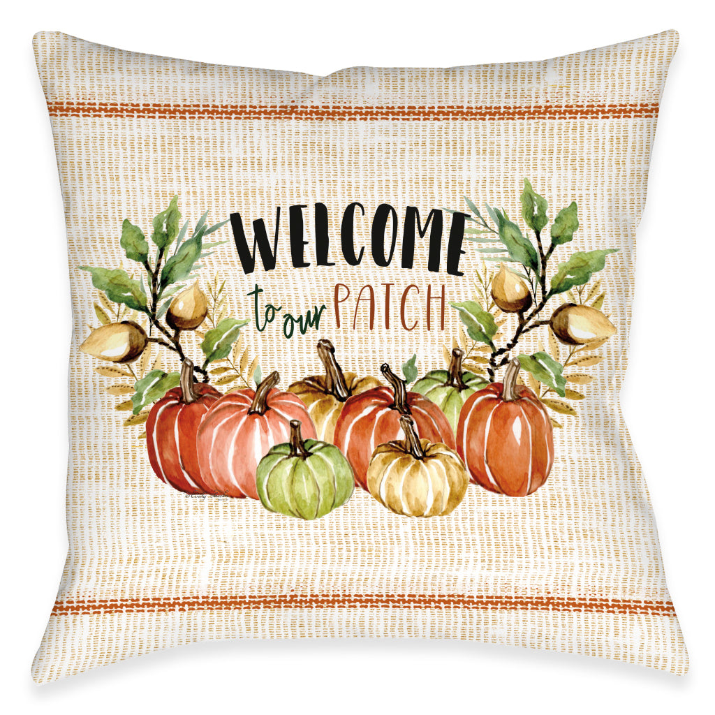 Welcome To Our Patch Indoor Decorative Pillow