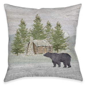 Welcome To The Cabin Outdoor Decorative Pillow