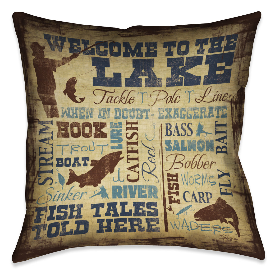 Welcome to the Lake Indoor Decorative Pillow
