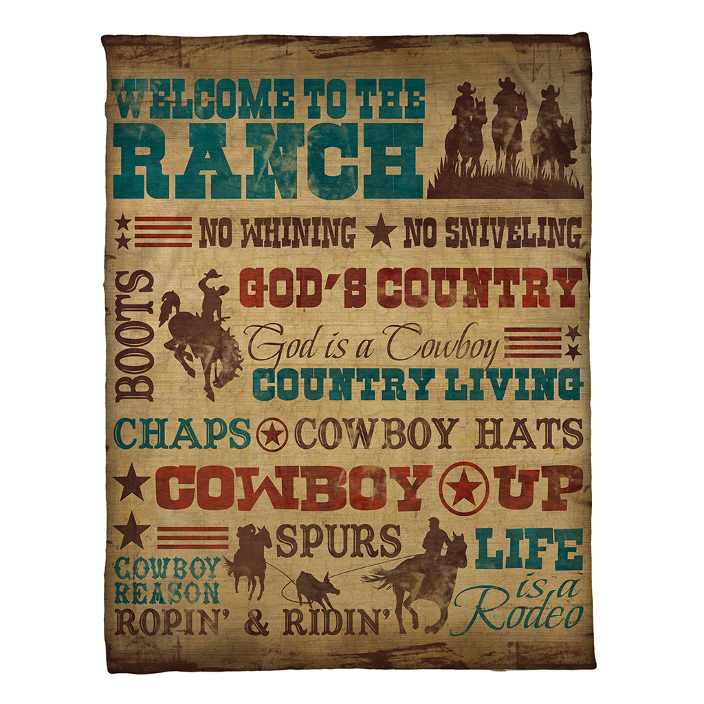 Welcome to the Ranch Fleece Throw