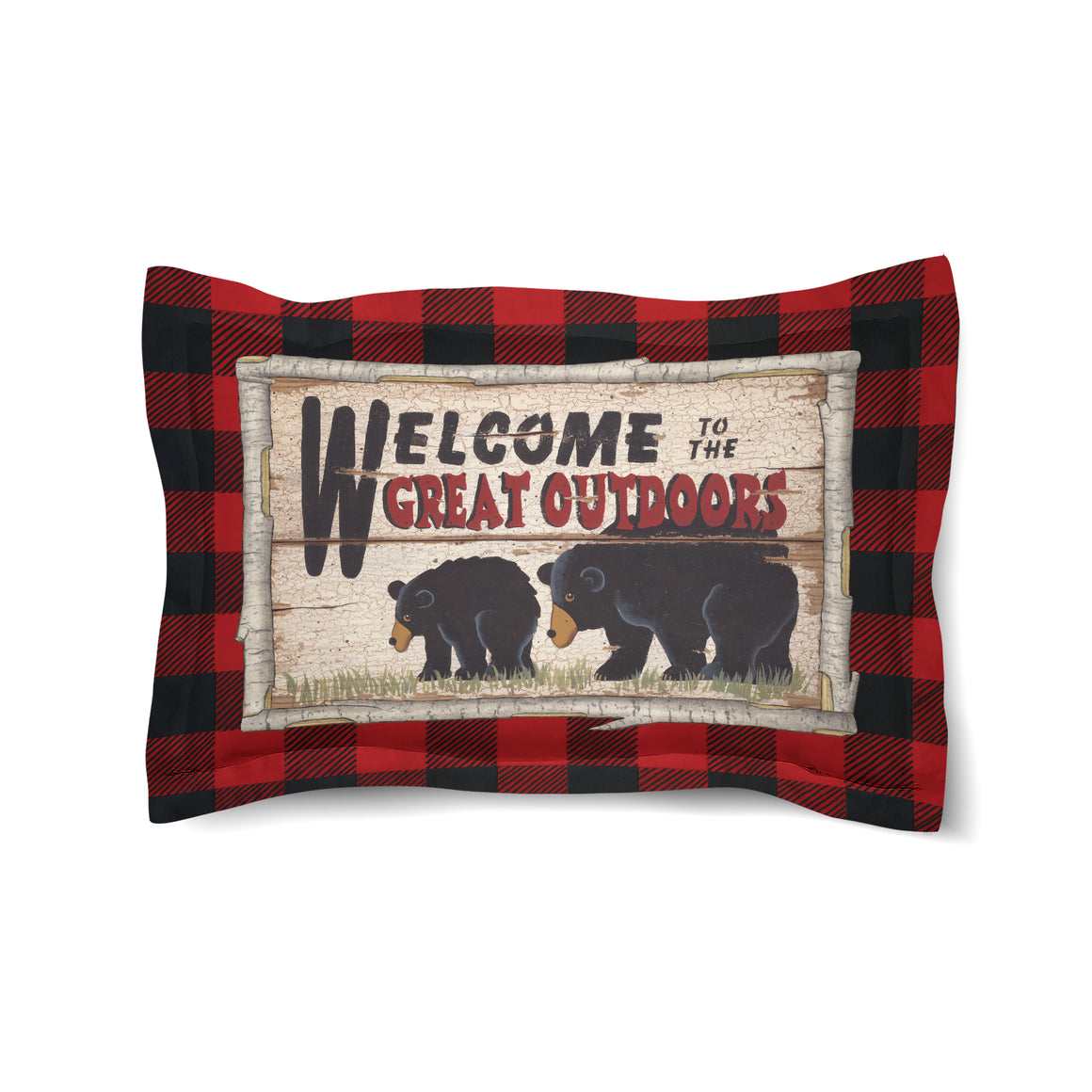 Welcome To The Great Outdoors Comforter Sham