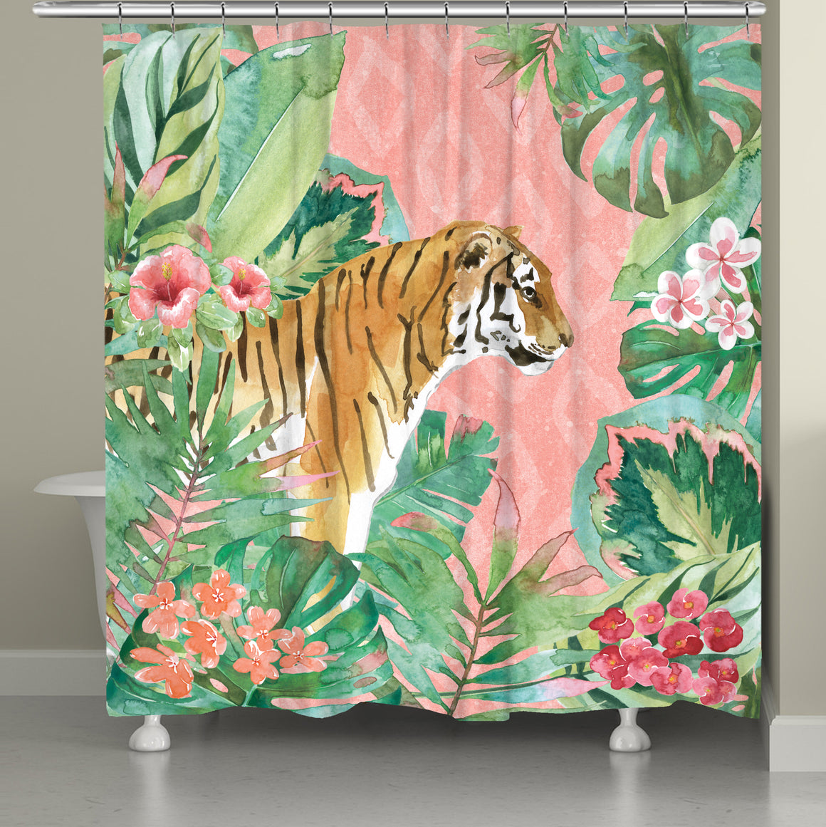 Tiger in the Jungle Shower Curtain