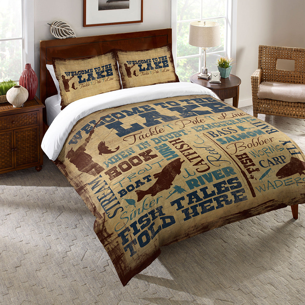 Welcome to the Lake Duvet Cover