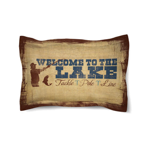 Welcome to the Lake Duvet Sham