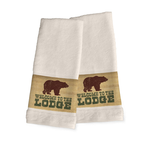 Welcome to the Lodge Hand Towels