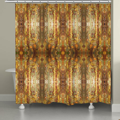 Wet Tree Bark Shower Curtain
