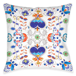 Whimsical Garden Outdoor Decorative Pillow