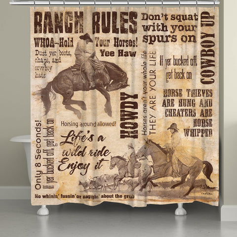 Wild Ride Shower Curtain