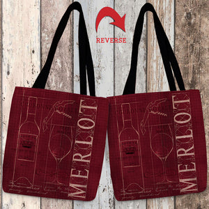 Wine Blueprint II Canvas Tote Bag