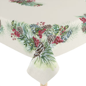 Winter Garland Tablecloth