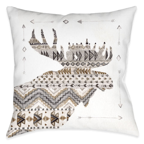 Winter Lodge Moose Indoor Decorative Pillow Laural Home