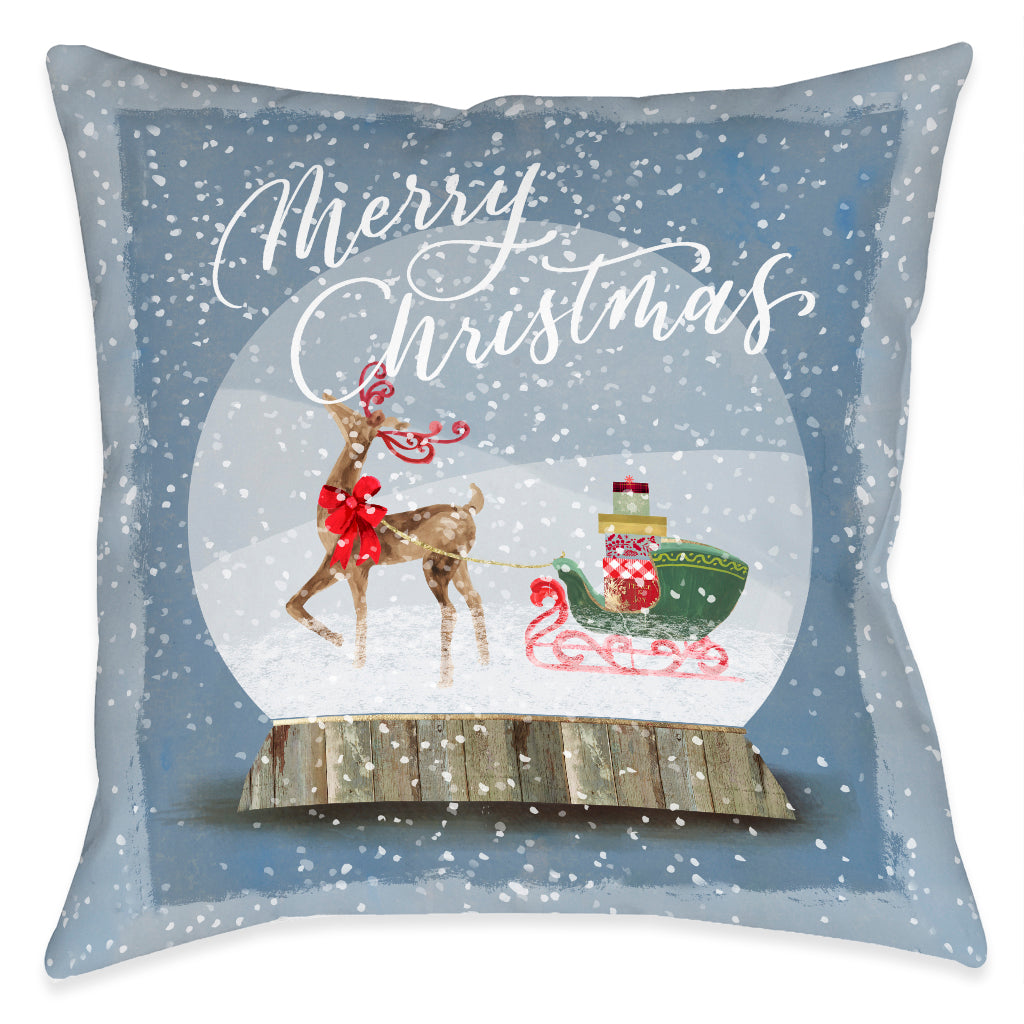 Winter Snow Globe Christmas Indoor Decorative Pillow