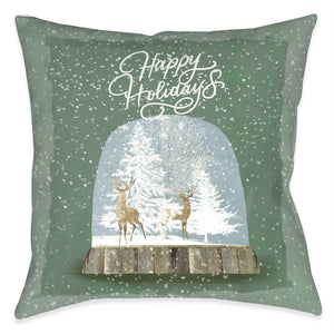 Winter Snow Globe Indoor Decorative Pillow