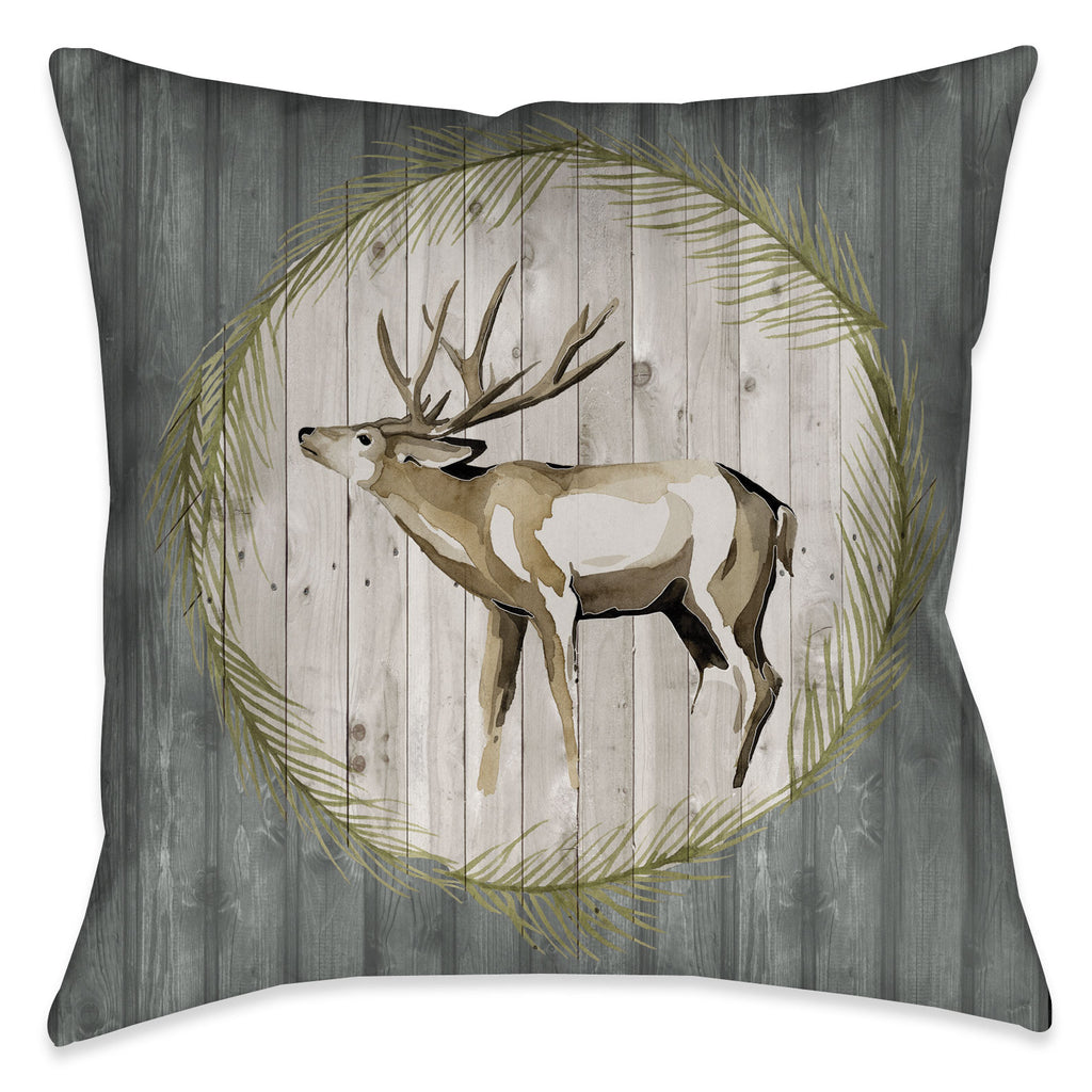 Woodland Deer Outdoor Decorative Pillow