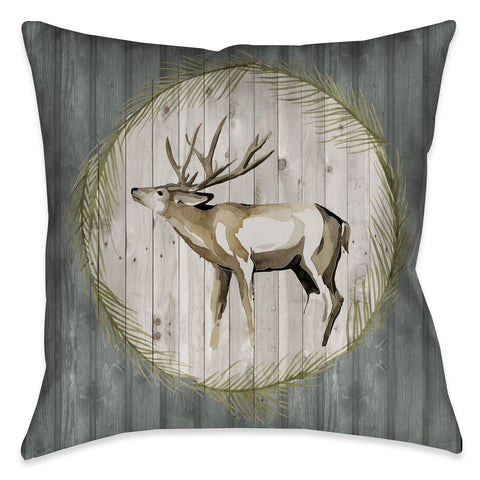 Woodland Deer Indoor Decorative Pillow