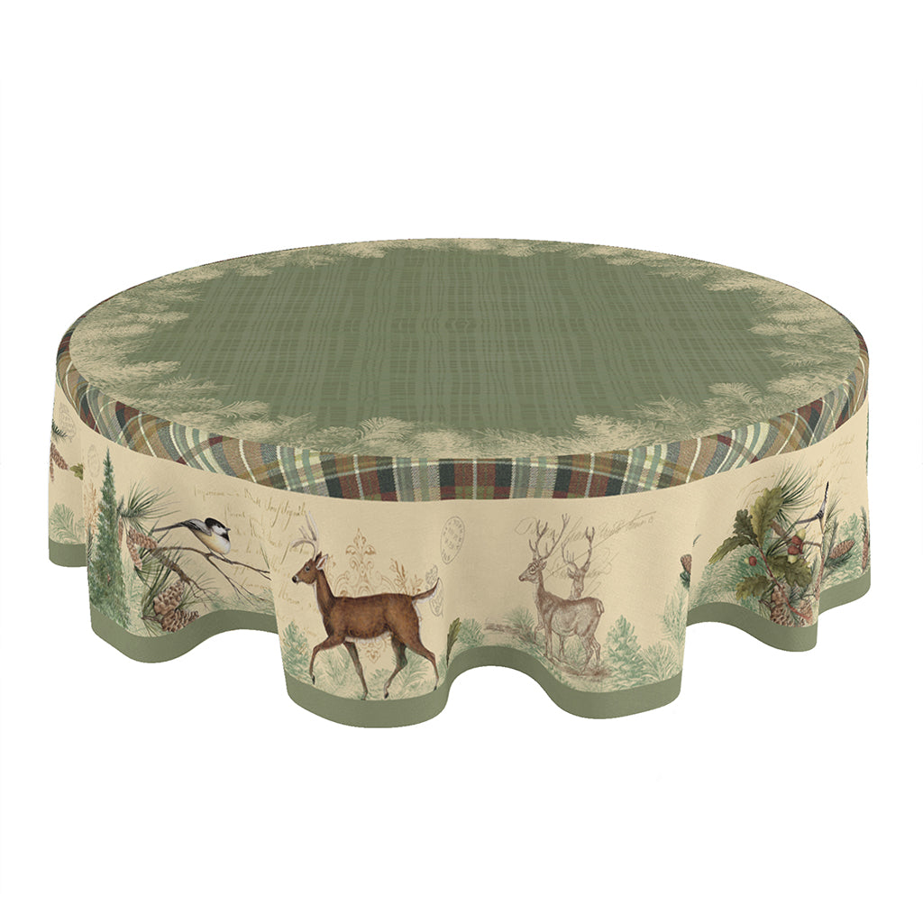 Woodland Forest Round Tablecloth