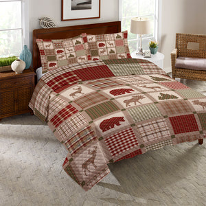 Woodland Patch Reversible Quilt Set