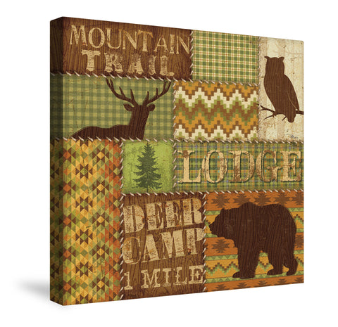 Woodland Words I Canvas Wall Art
