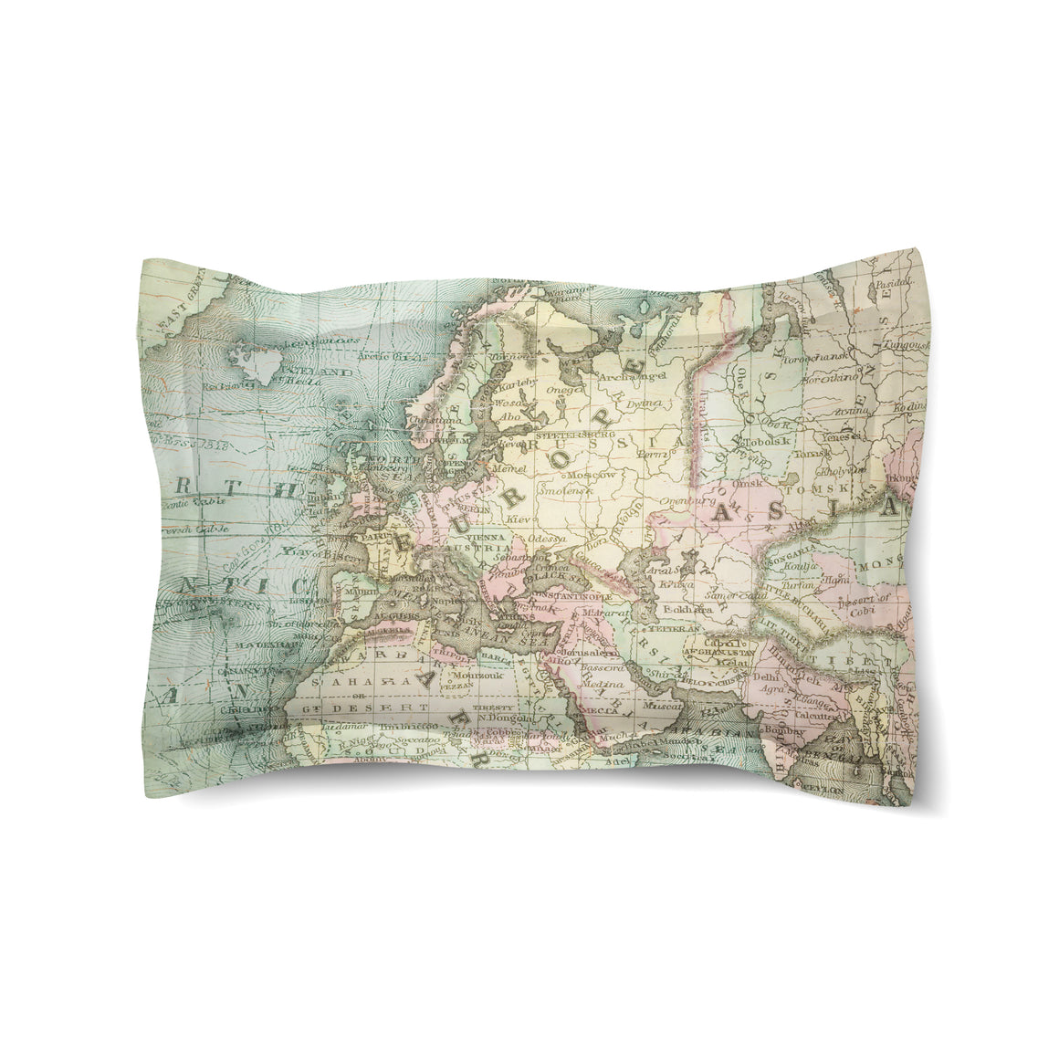 World Map Duvet Sham