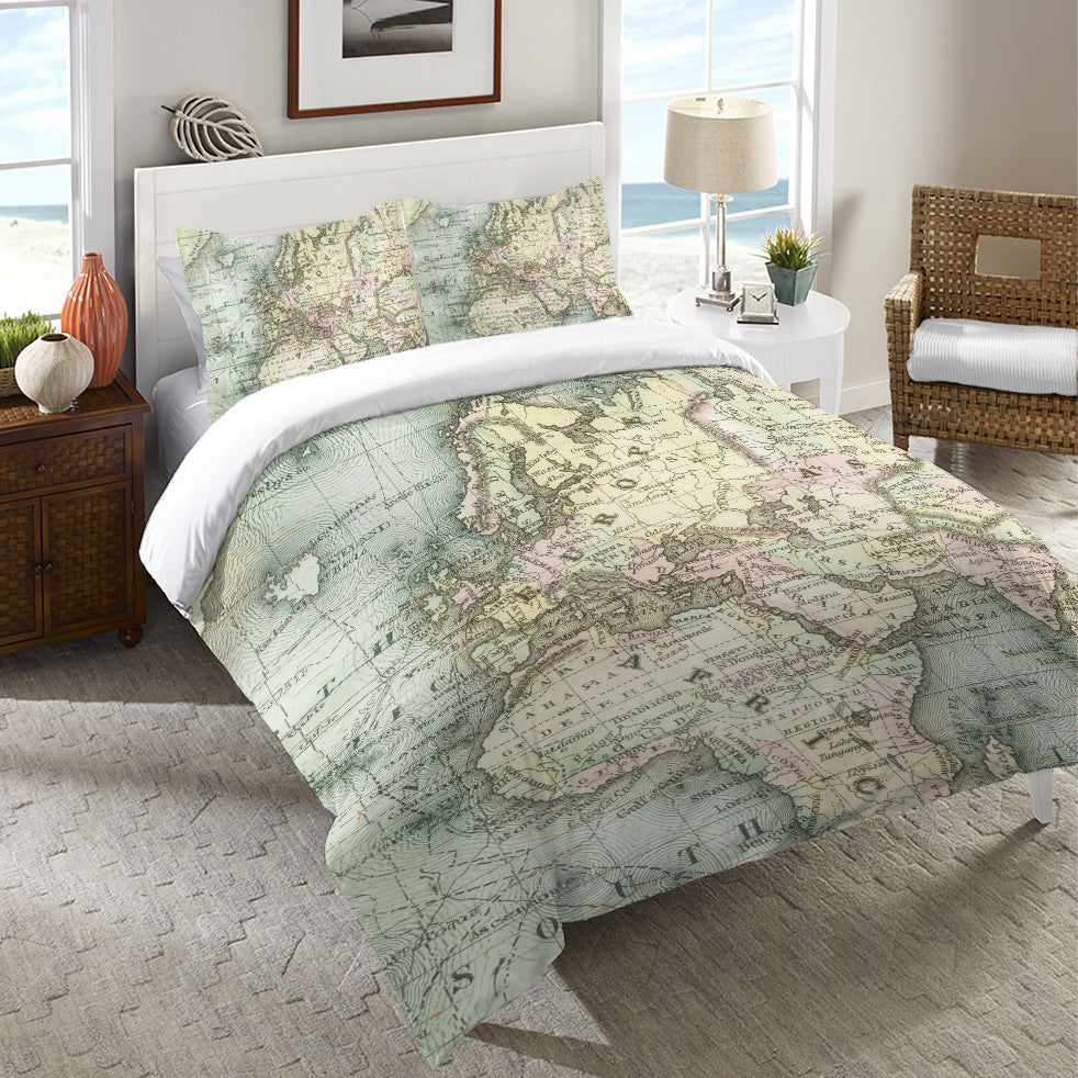 World map duvet cover sweetgalas world map duvet cover laural home gumiabroncs Choice Image