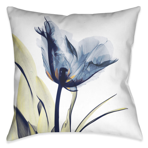 Blue Tulip X-Ray Indoor Decorative Pillow