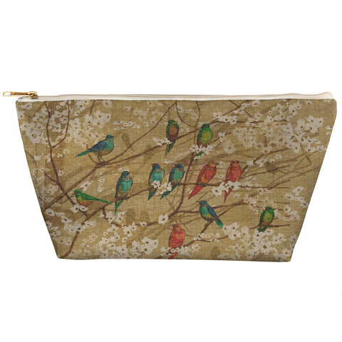 Birds and Blossoms Zipper Pouch