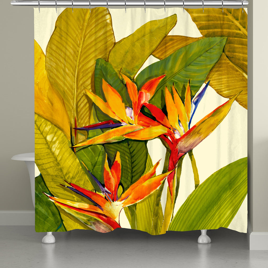 Tropical Bird of Paradise Shower Curtain