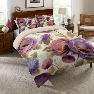 Precious Purples and Blues Duvet Cover