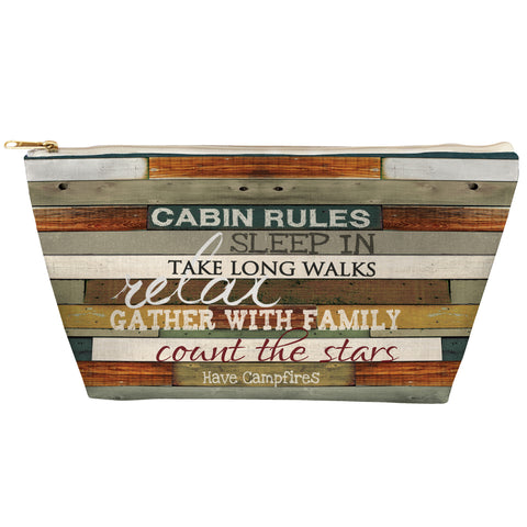 Cabin Rules Zipper Pouch