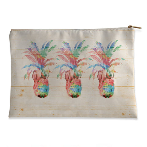 Colorful Pineapples Flat Pouch