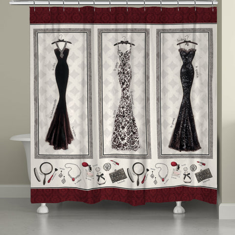 Couture Merlot Shower Curtain