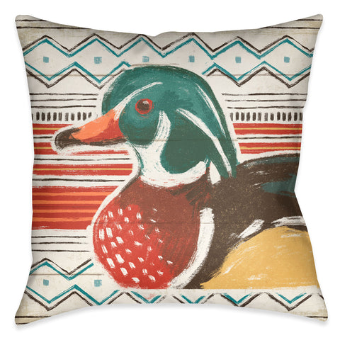 Colorful Duck II Outdoor Decorative Pillow
