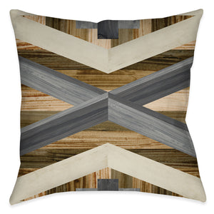 Geometric Inlay I Indoor Decorative Pillow
