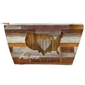 Home is where the Heart is Tapered Accessory Pouch