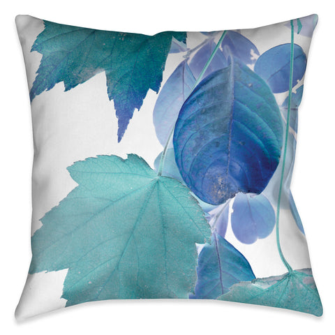 Iridescent X-Ray Leaves Indoor Decorative Pillow