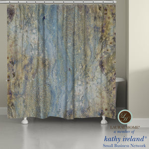 Laural Home kathy ireland®  Small Business Network Member Mineral Flow Shower Curtain