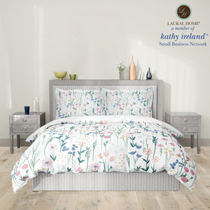 Laural Home kathy ireland® Small Business Network Member Delicate Floral Boho Comforter