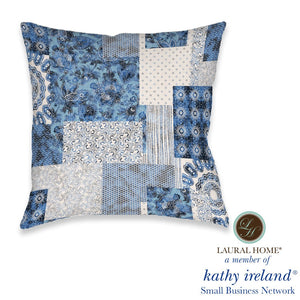 Laural Home kathy ireland® Small Business Network Member Dream Patch Indoor Decorative Pillow