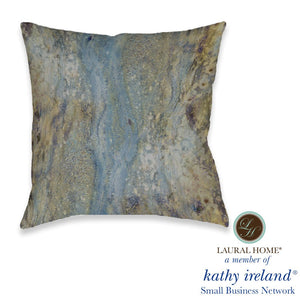 Laural Home kathy ireland® Small Business Network Member Mineral Flow Outdoor Decorative Pillow