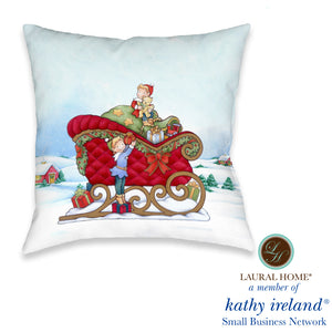 Laural Home kathy ireland® Small Business Network Member Once Upon A Christmas Indoor Decorative Pillow