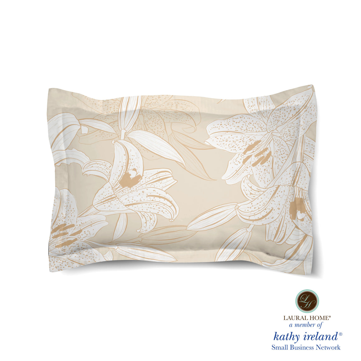 Laural Home kathy ireland® Small Business Network Member Peaceful Elegance Lily Comforter Sham