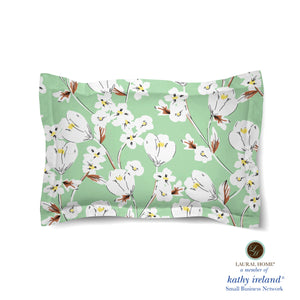 Laural Home kathy ireland® Small Business Network Member Retro Floral Mint Comforter Sham