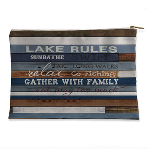 Lake Rules Flat Accessory Pouch