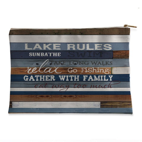Lake Rules Flat Pouch