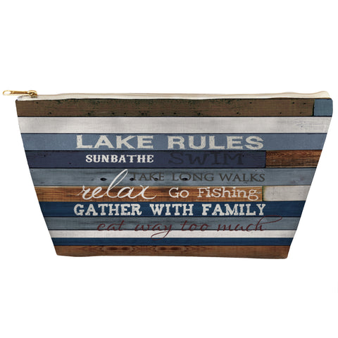 Lake Rules Zipper Pouch