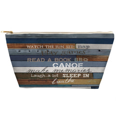 Lake Rules Tapered Accessory Pouch