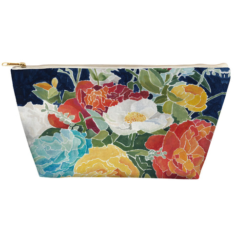 Midnight Floral Zipper Pouch