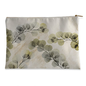 Smoky X-Ray of Eucalyptus Leaves Flat Accessory Pouch
