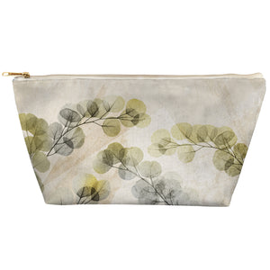 Smoky X-Ray of Eucalyptus Leaves Tapered Accessory Pouch